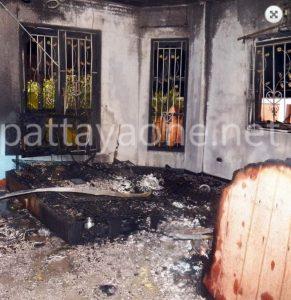 Brite erhängt neben brennendem Haus gefunden