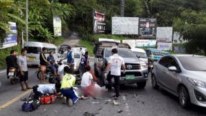 Mehrere Motorrad-Fahrer verunglückten auf Thailands Strassen