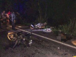 Kamphaeng Pet: 3 Tote bei Motorrad-Unfall - 55 Verkehrstote landesweit