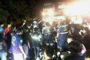 Chachoengsao: 4 Tote bei Unfall mit Pickup während es regnete