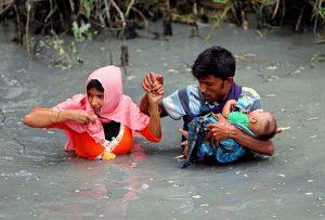 UN: 270.000 Rohingyas fliehen aus Burma - bisher um die 1000 Tote