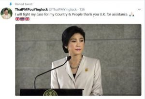 Yingluck beantragt Aysl in London