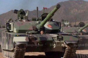 Erste Lieferung der bestellten VT4-Panzer in Sattahip eingetroffen