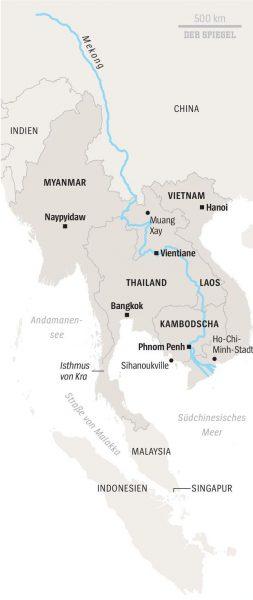 Immer mehr Mekong-Anrainerstaaten werden von China abhängig
