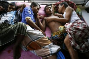 epa04807840 Rohingya refugees rest in their room at a temporary camp in Gampong Ado Village, Aceh, Indonesia, 19 June 2015. Most Muslim Rohingya say they suffer discrimination in Myanmar, which does not recognize them as one of the official ethnic groups, and considers them to be illegal Bengali immigrants. The Indonesian government will permit Rohingya migrants to take refuge in Indonesia for one year under the IOM and UNHCR control before they will be repatriated to their country.  EPA/HOTLI SIMANJUNTAK