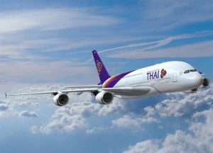 epa01043037 An Airbus handout photo released 19 June 2007 shows an ABAC effect computer graphic of A380 Thai Aiways plane. Thai Airways International has placed a firm order for eight additional A330-300s, taking another significant step in its long-term Airbus fleet development plan, Airbus reported on 19 June 2007.  EPA/AIRBUS HANDOUT  EDITORIAL USE ONLY