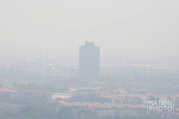 Die Luftverschmutzung, vom Weltall aus gesehen (sieht auch