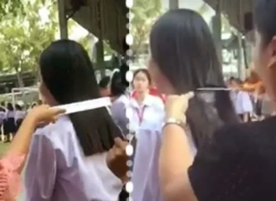 Sisaket: Lehrerin bestraft Schülerin mit hässlichen